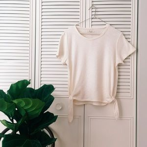 NWT Madewell Texture & Thread Modern Tie Side Top